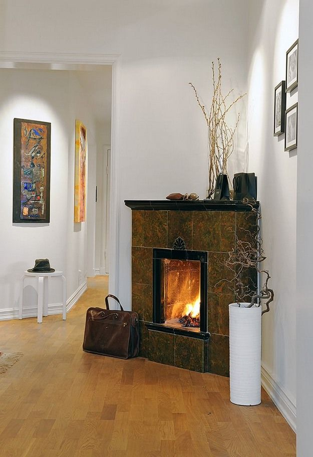 Image Result For Corner Fireplace With Images Corner Fireplace