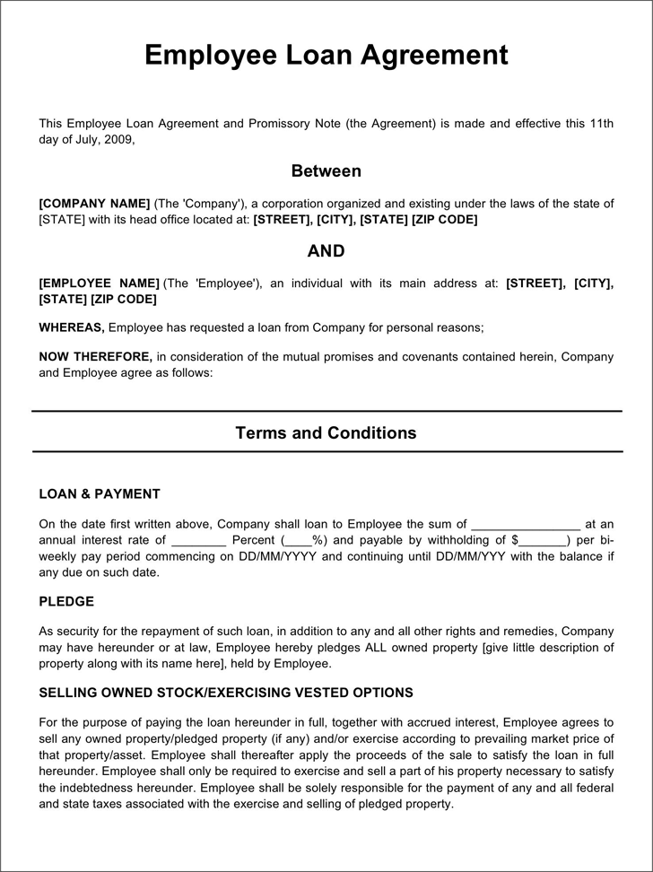 Employee Loan Agreement 2 In 2020 Good Essay Resume Template Free Sample Resume