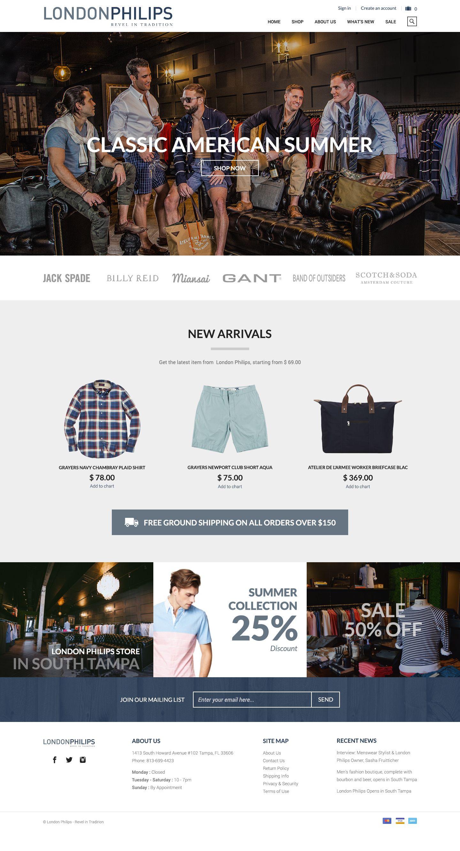 London Philips Homepage Fashion Web Design Fashionwebdesign