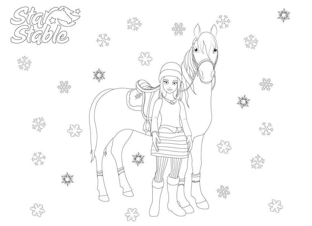 Adult Coloring Pages Image By Jessica Leighann Star Stable