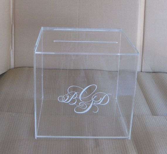 Wedding Gift Post Boxes For Cards: Personalized Wedding Card Box With Lock , Money Box