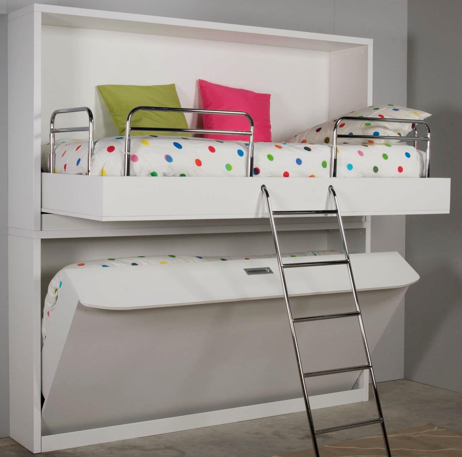 Lit Superpose Escamotable Contemporain En Bois Lift Bed