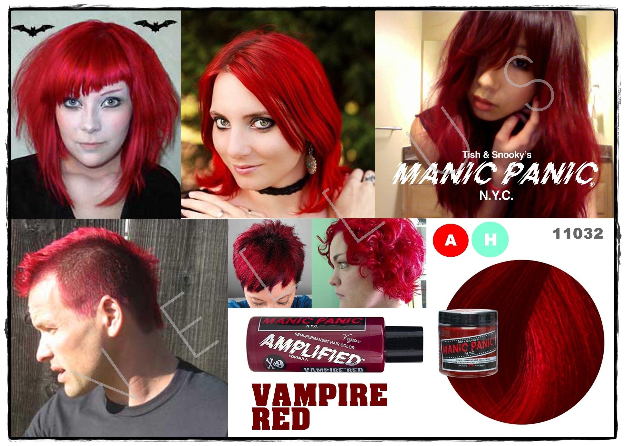 Manic Panic Amplified Vampire Red Vellus Hair Studio 83a Tanjong Pagar Road S 088504 Tel 62246566 Manic Panic Hair Dye Dyed Hair Hair Studio