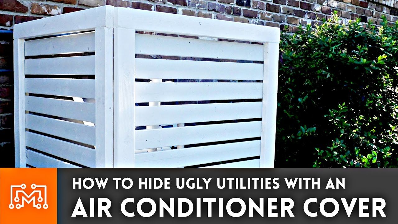 How to make an air conditioner cover fence Air