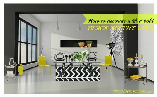 How to decorate with an accent bold black wall