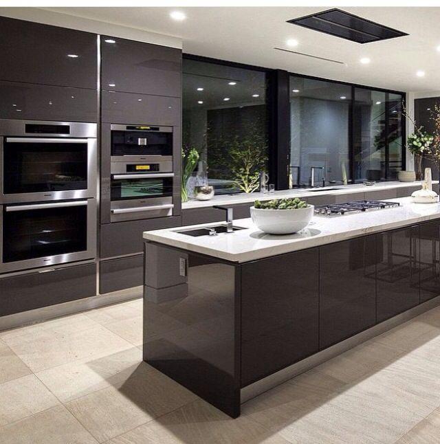 Cozinha  kitchen Cocina Pinterest Kitchens and Modern - alno küchen grifflos