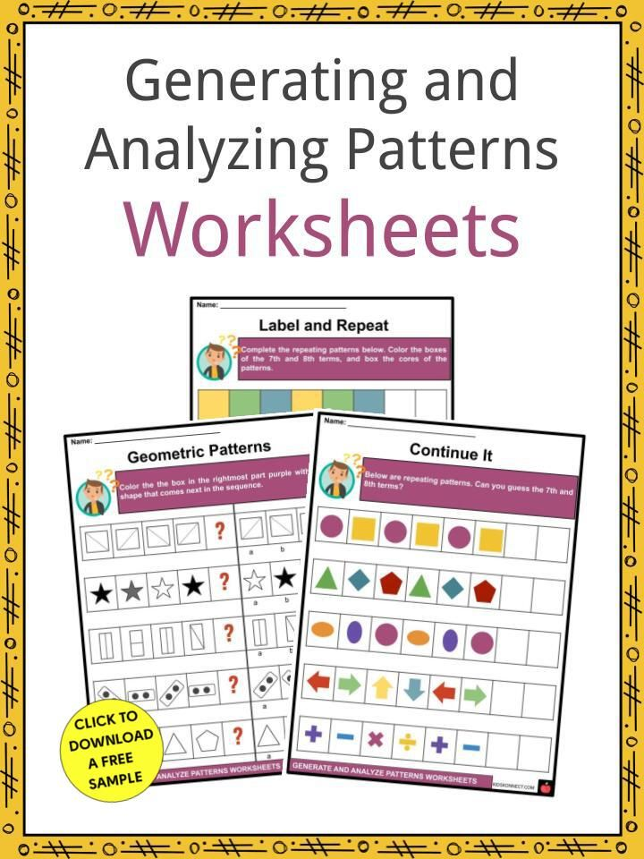 Generating and Analyzing Patterns Facts & Worksheets in