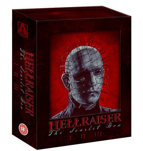 Hellraiser The Scarlet Box Blu-ray set on Arrow Video. Click for details: http://horrorpedia.com/2012/11/04/hellraiser/