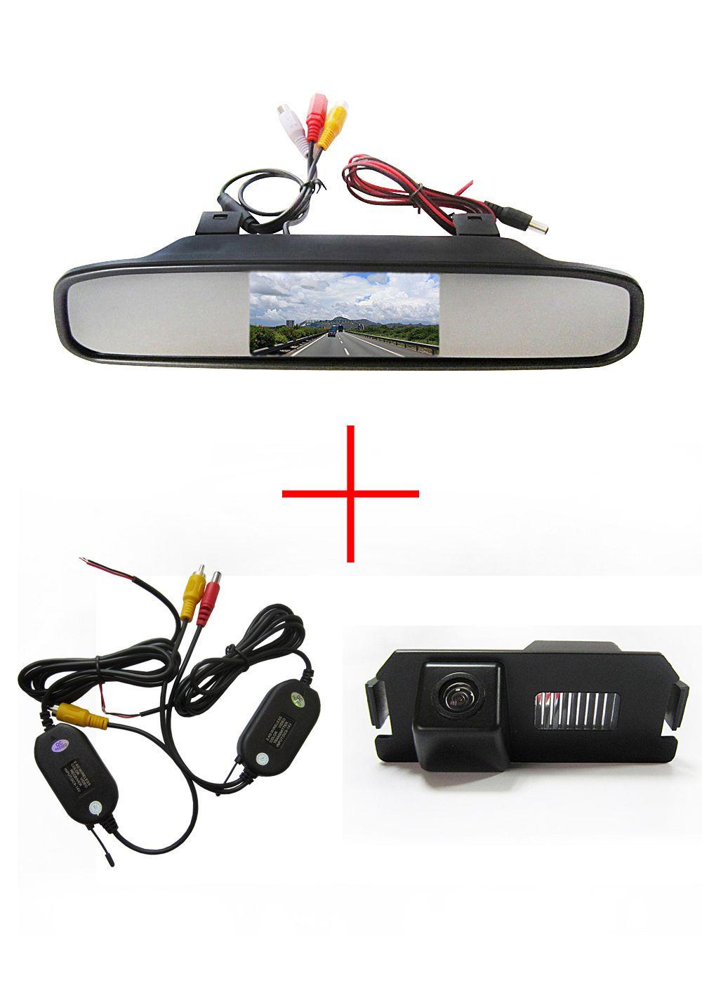 Wireless Wifi Ccd Car Rear View Camera For Hyundai I30 Genesis Coupe Tiburon Kia Soul With 4 3 Inch Rear Vie Reverse Camera For Car Rear View Camera Car Camera