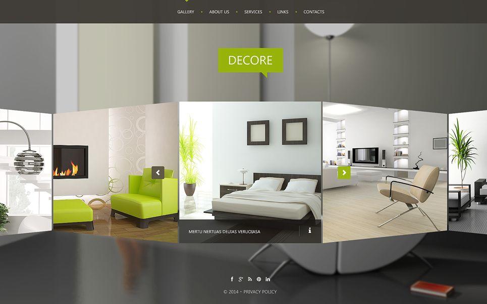 Interior Design Website Template 51116 Interior Design Website