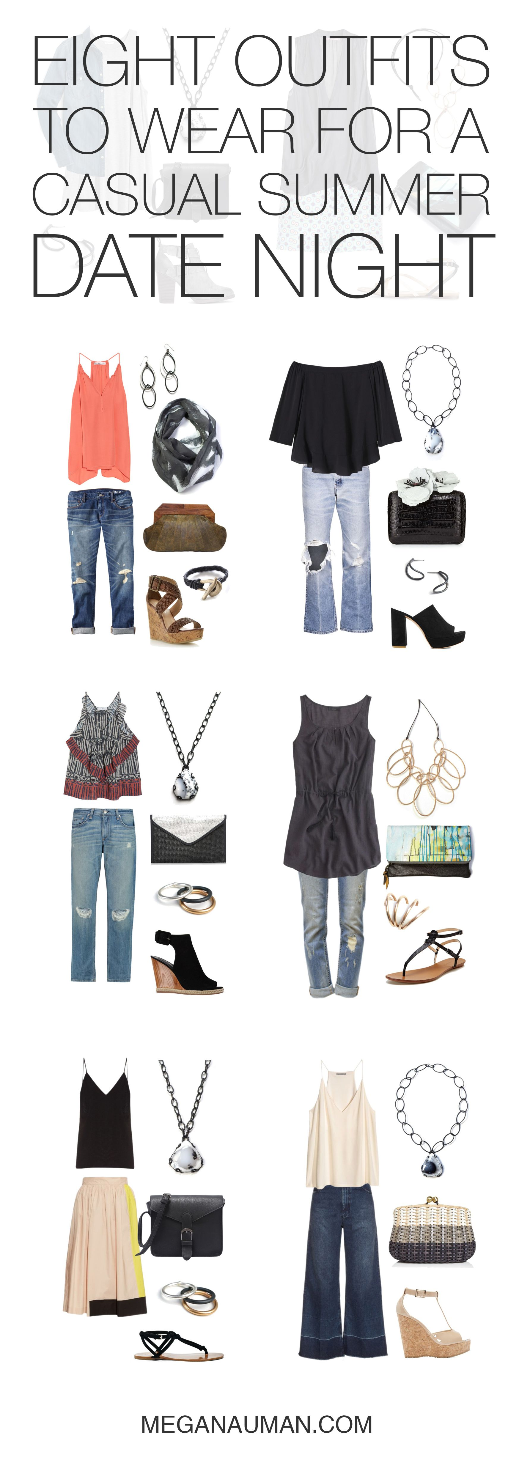 Eight Casual Summer Date Night Outfit Ideas Megan Auman Date Night Outfit Summer Night Outfits Casual Summer Date Night Outfit [ 4922 x 1746 Pixel ]