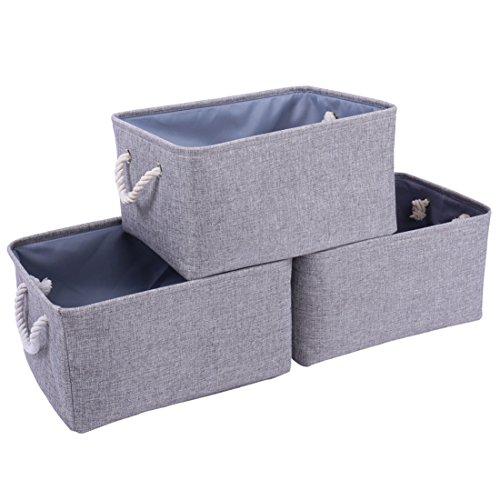 Thewarmhome Storage Bins Baskets For Shelves Fabric Storage Bins