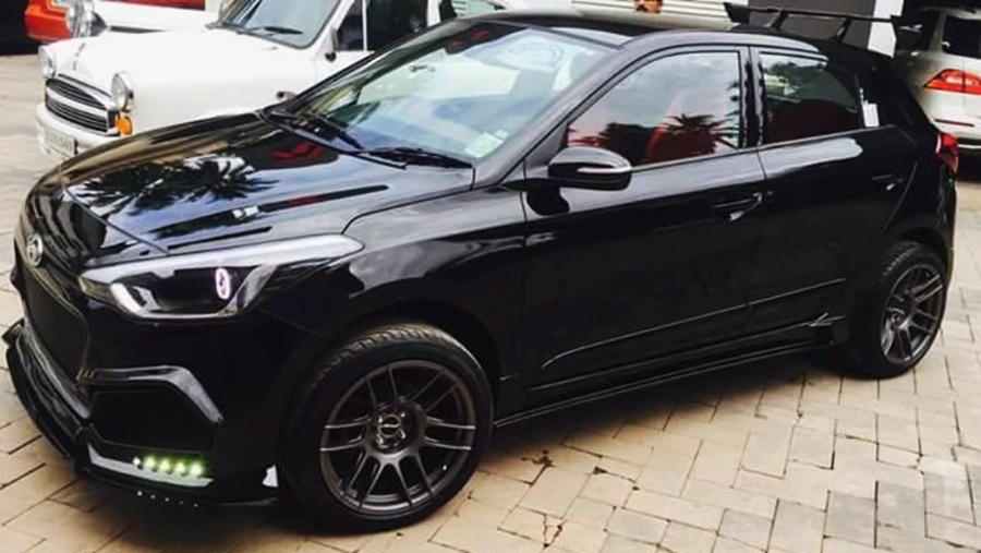 Black Hyundai I20 Modified Kit By Retro Car Restoration Modifiedx Retro Cars Car Restoration Car