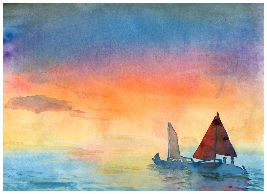 Watercolor: Sailboat by LOOMcomics on @DeviantArt