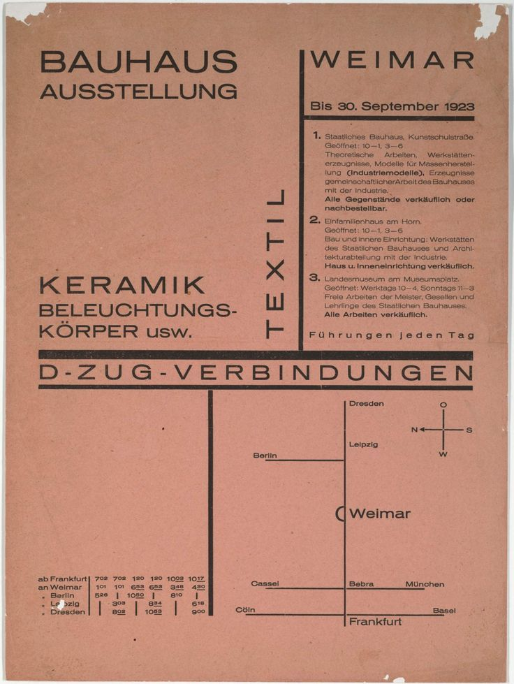 Awesome Typography Design By Walter Dexel, Bauhaus Ausstellung, 1923
