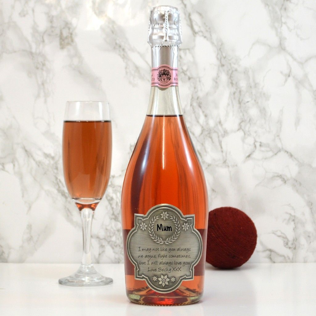 Personalised Sparkling Rose Wine Gift For Mums Giftsonline4u Wine Gifts Gifts For Mum Mother Day Message