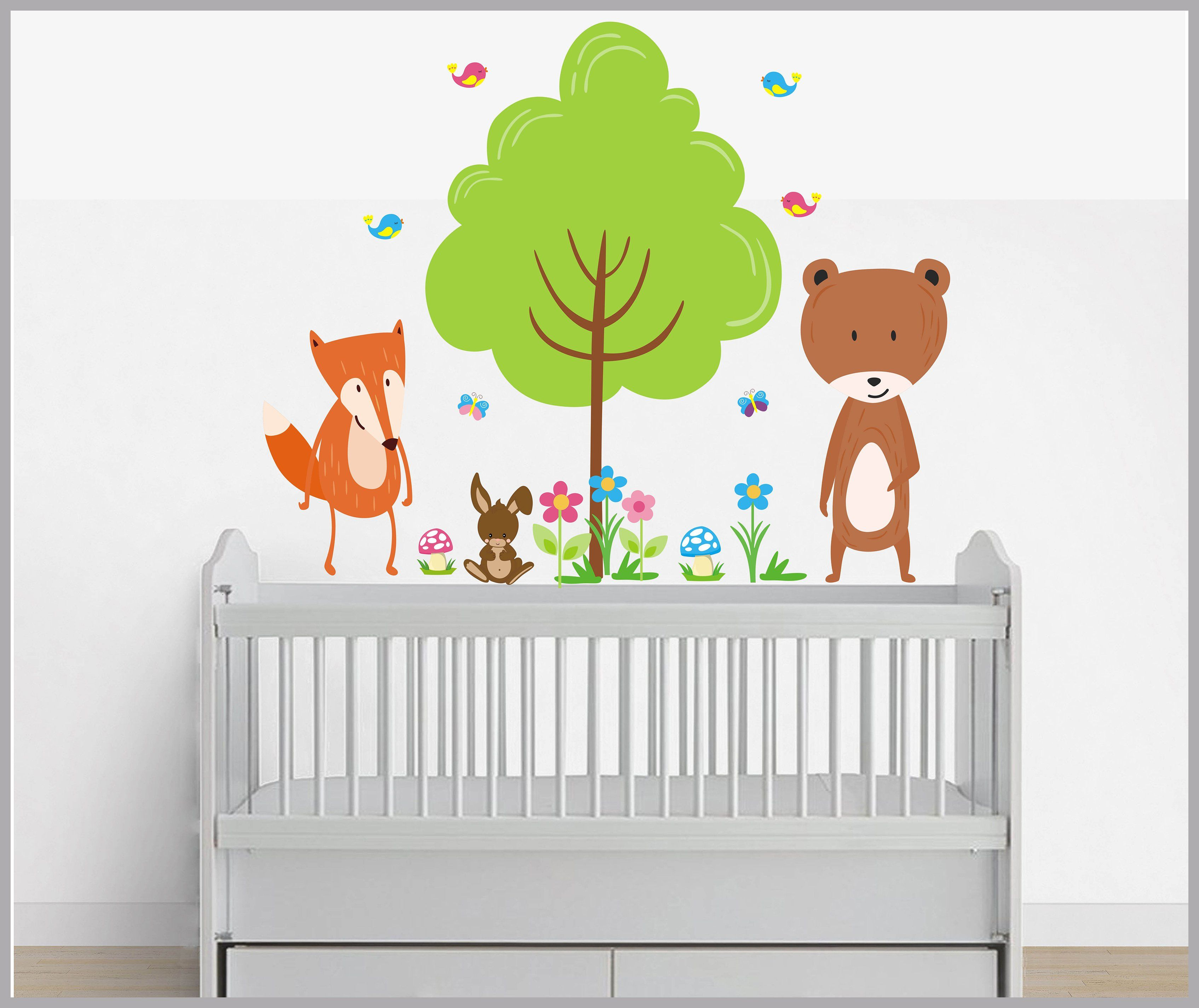 Forest Wall Decals Woodland Animal