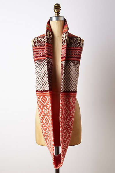 Anthropologie - Fairisle Infinity Scarf | Knitting and crochet ...