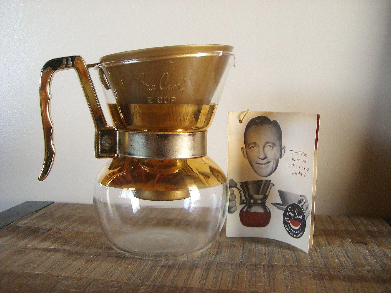 Vintage Bing Crosby Filter Drip 2 Cup Coffee Pot. 24.00