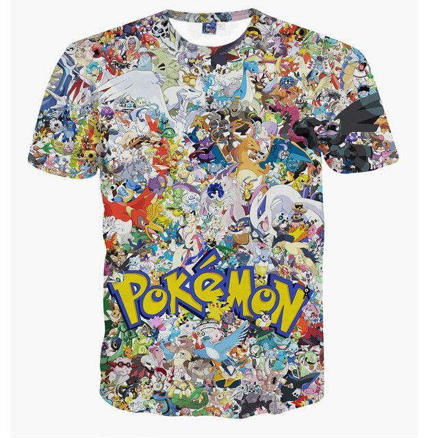 ee99495ae ing Design T Shirt Pokemon Funny Cool T-shirt Short Sleeve Anime 3D Print  Tshirt Camiseta Men Women