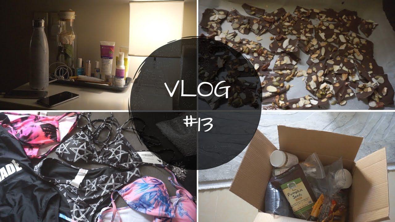 Vlog13 مشترياتي من اي هيرب روتين بشرتي الليلي مشترياتي من بوهو كيف ت Vlogging Youtube