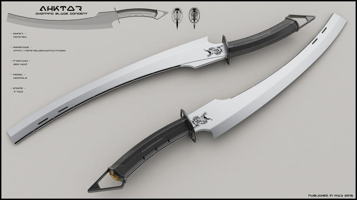 Concept Of Modern Sword Constructed Over Traditional Shape