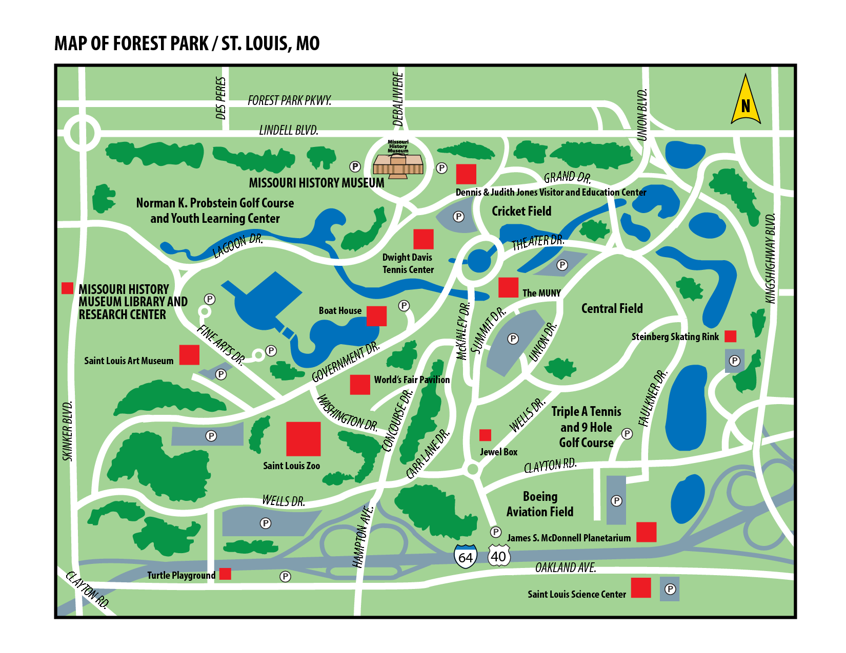 Forest Park St Louis Map Map of Forest Park in St. Louis, Missouri | St. Louis, Missouri  Forest Park St Louis Map
