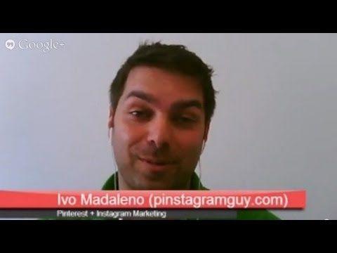 Hangout Pinterest + Instagram Marketing - Entrevista E-GOI com Ivo Madaleno