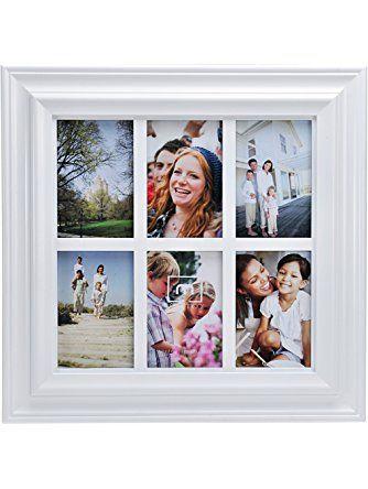 Melannco 6 Opening White Window Collage Lifetime Brands
