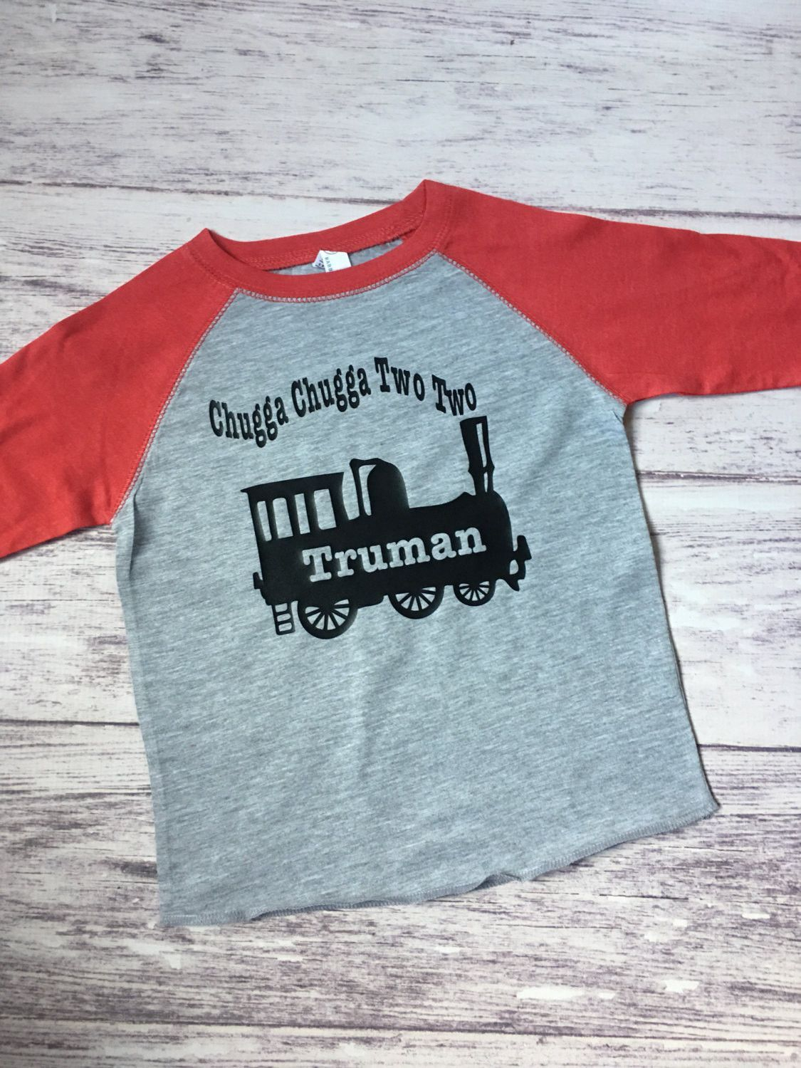 5694df41fa5 This is a custom 2nd birthday train shirt for your train fan! This shirt is  made to order we can customize the numbers on the train and your child s  name!