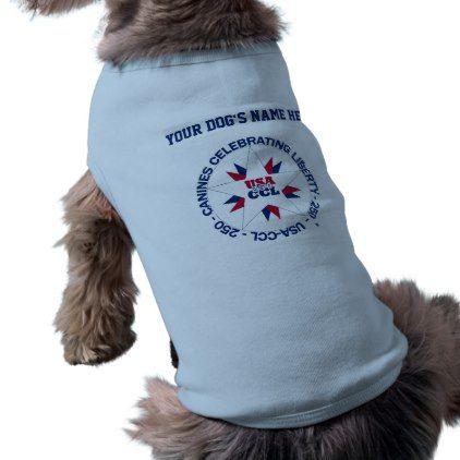 Patriotic pets ready for the 250th birthday - USA T-Shirt - birthday diy gift present custom ideas