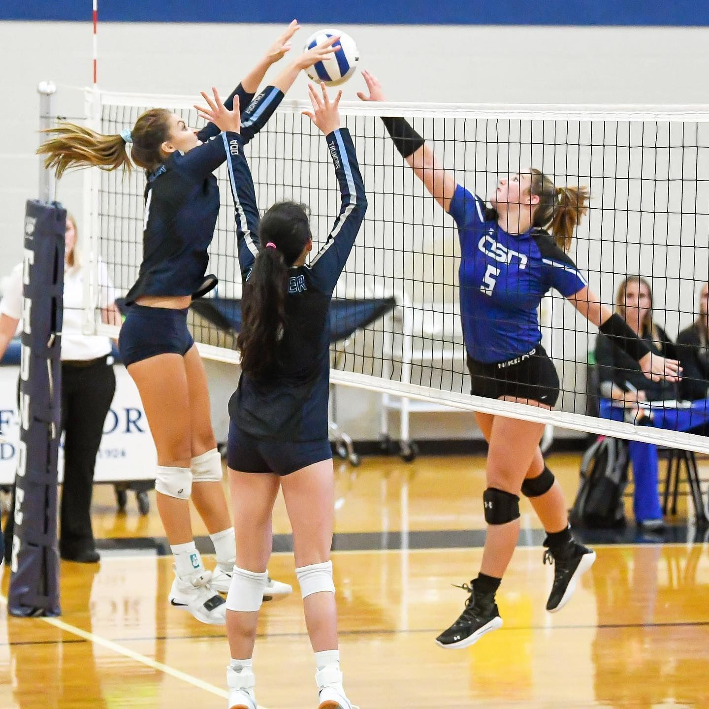 Denied Highschoovolleyball Odavball Odathunder Odavolleyball Volleyball Sportsphotography Maxpreps Womensports In 2020 Volleyball Basketball Court Sports