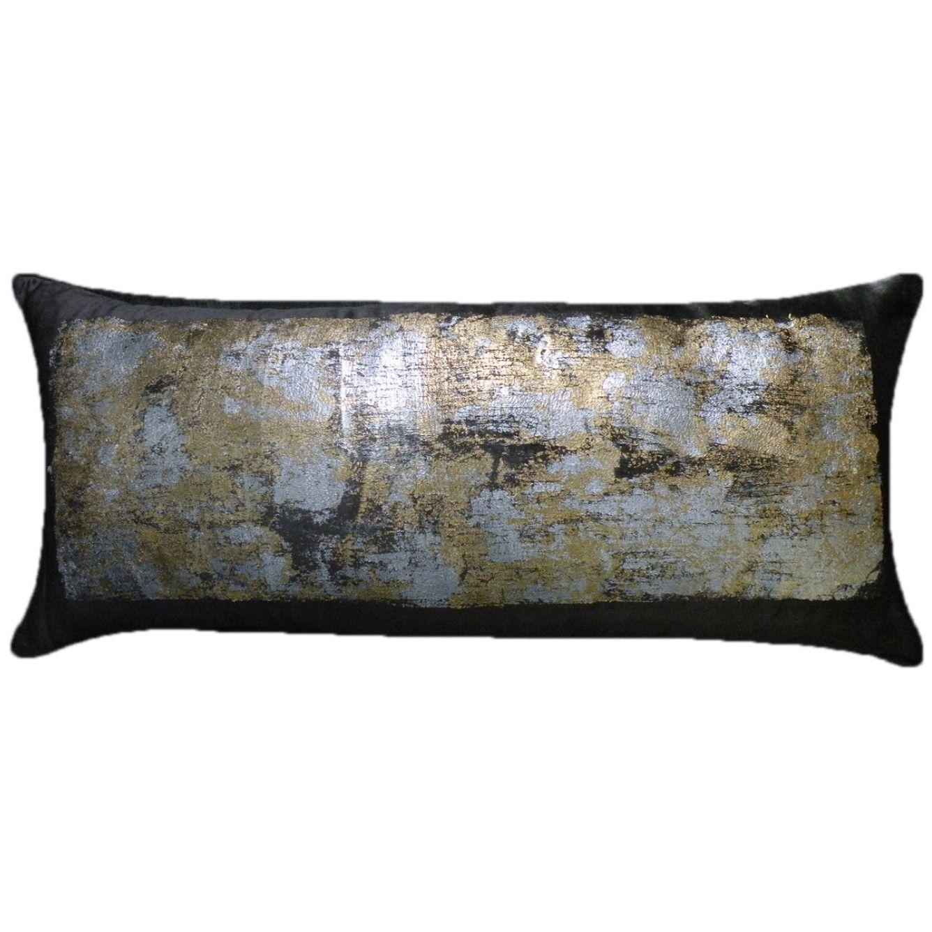 Maya Black Extra Large Throw Pillow Zinc Door Velvet Decorative Pillow Decorative Pillows Extra Large Throw Pillows