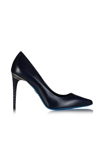 Loriblu+Midnight+Blue+Leather+Pointed+Pump