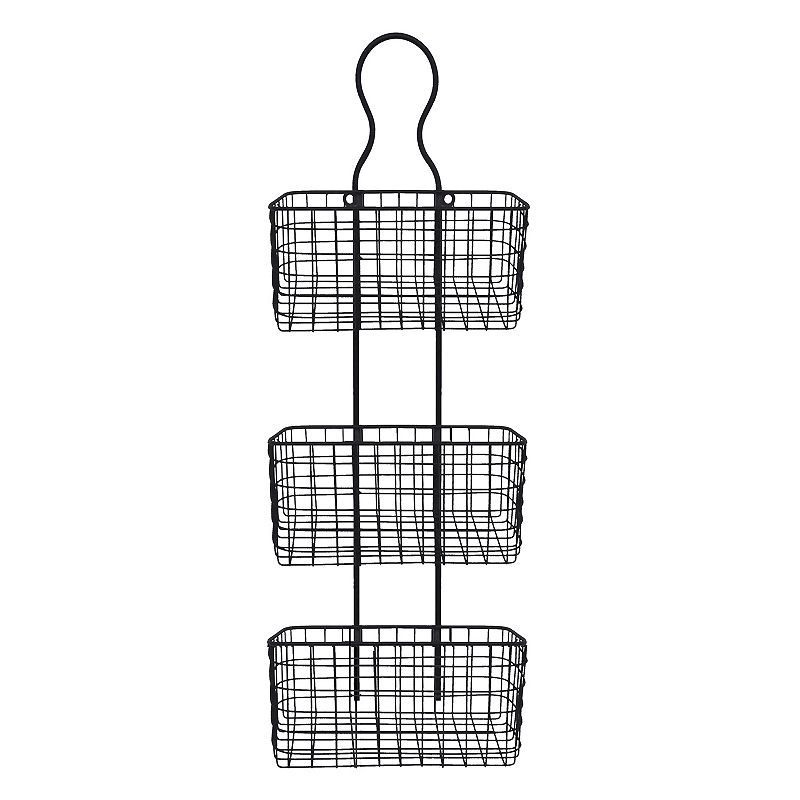 Wire Basket 3 Tier Metal Wall Decor