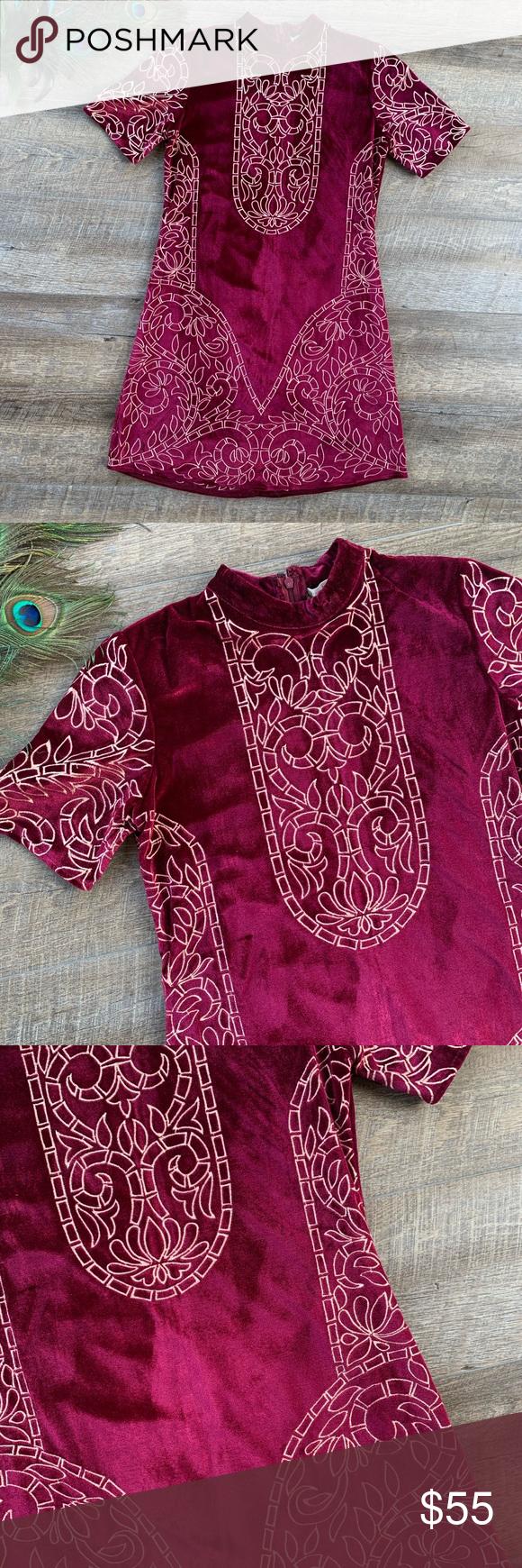 NWT Chelsea & Violet Burgundy Velvet Dress