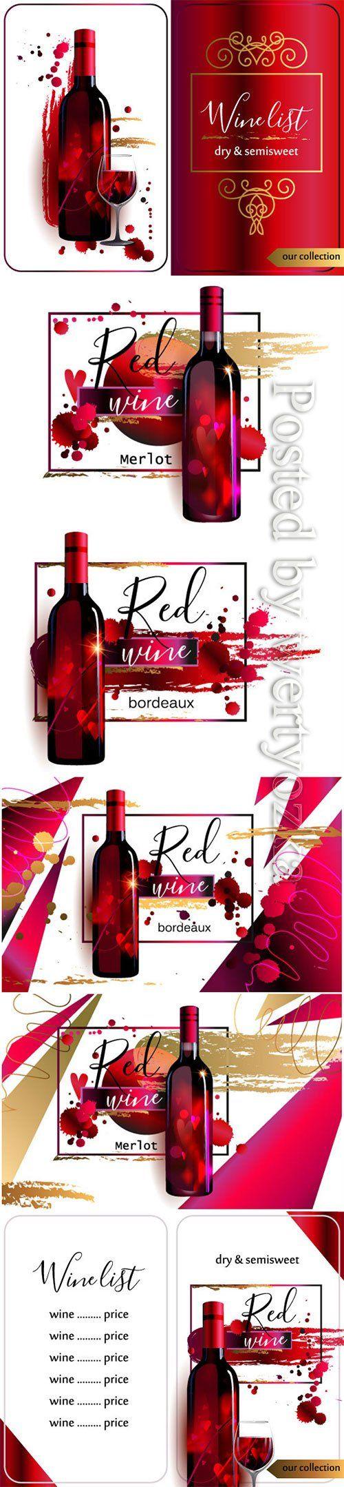 Template Of Wine List Wine List Merlot Red Wine Wine