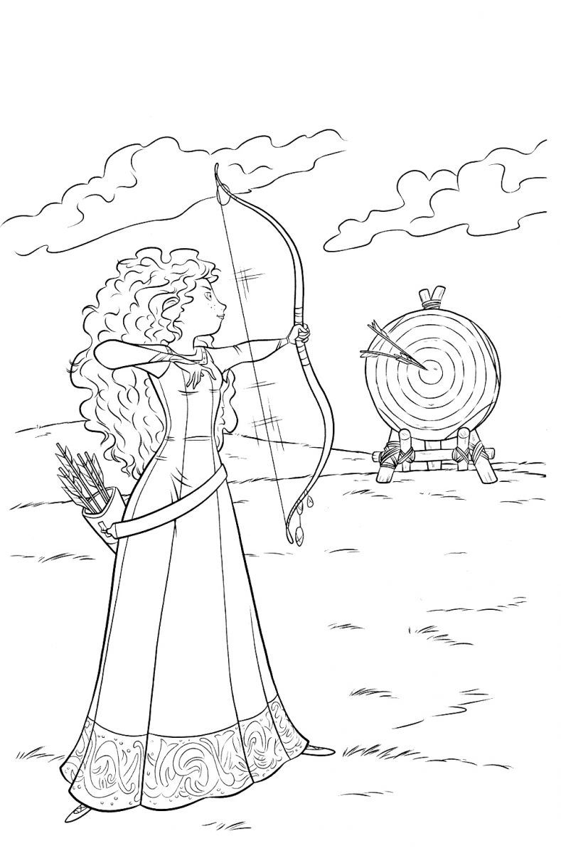 Princesa Merida Brave Disney Colorear Disney Coloring Pages Princess Coloring Pages Disney Princess Coloring Pages