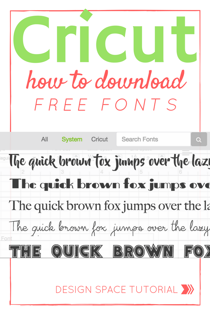 How To Get Free Fonts For Cricut Design Space Free fonts