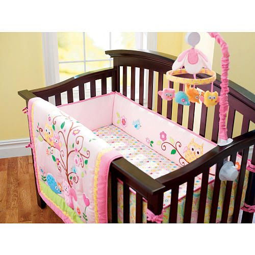 kids line dena happi tree 9 piece crib bedding set kids line babies r us all things baby. Black Bedroom Furniture Sets. Home Design Ideas