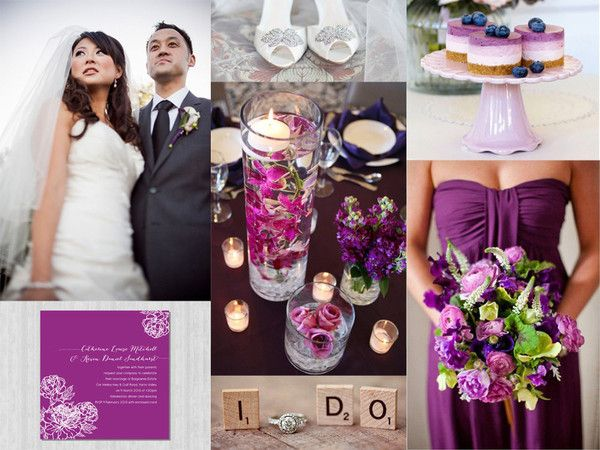 Radiant Orchid Wedding Inspiration - miki.o. Pantone colour of the year 2014.