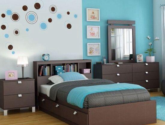 Recamara turquesa deco pinterest - Decoracion de paredes de dormitorios juveniles ...