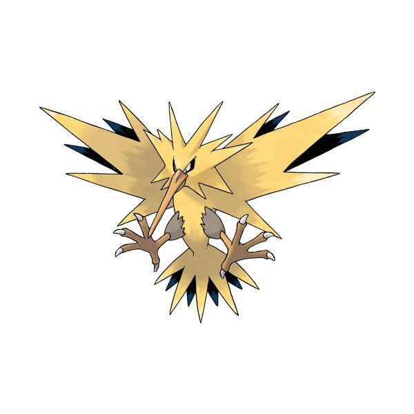 File 145zapdos Png Zapdos Pokemon Pokemon Firered Bird Pokemon