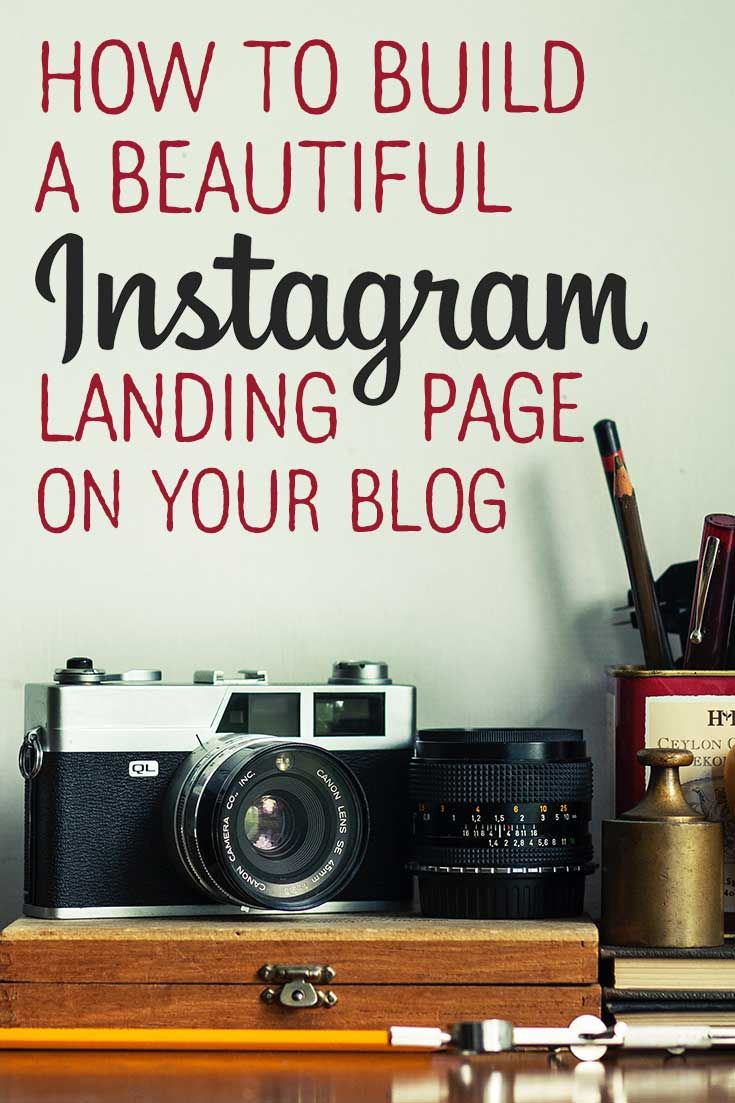Step-by-step instructions to build a beautiful. customized landing page in Wordpress, perfect for your Instagram profile link. via @lizzp