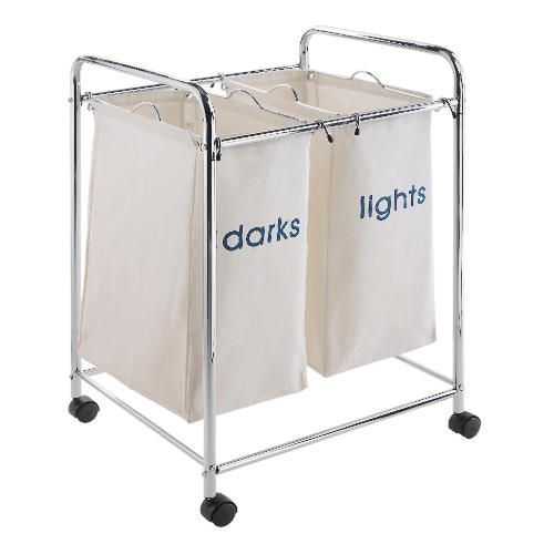 Divided Laundry Hamper Need Something Like This Divided