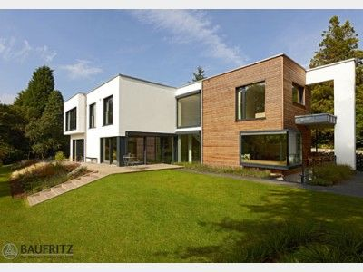 designhaus crichton - einfamilienhaus von baufritz   hausxxl ... - Landhaus Modern