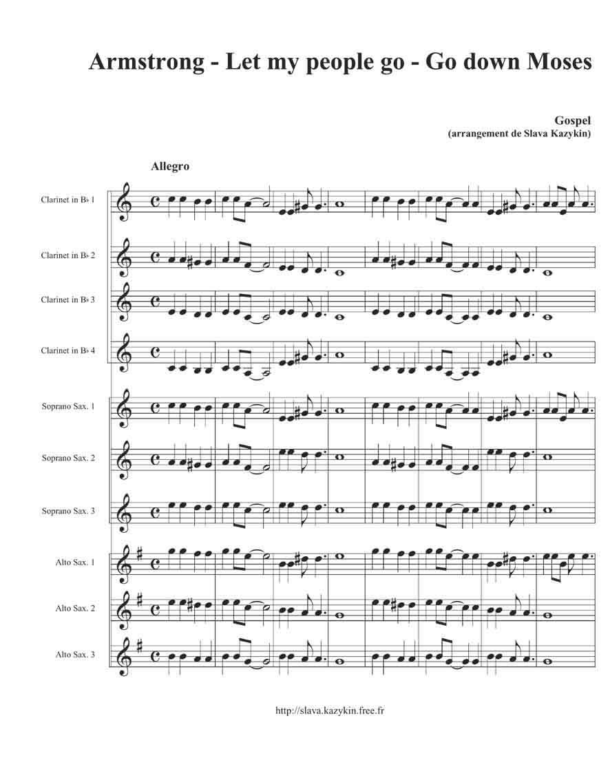 partition musique gratuite pour saxophone alto