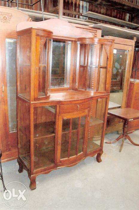 Antique Platera With 3 Doors Drawer Carving Narra For Sale