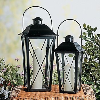 Love these Black Lanterns from Terrys Village!  Very reasonably priced!
