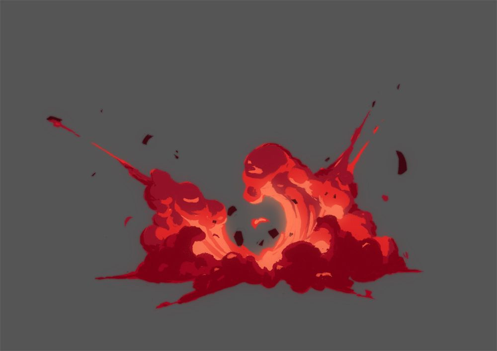Matthew Timms 2D FX Animator: Explosion designs
